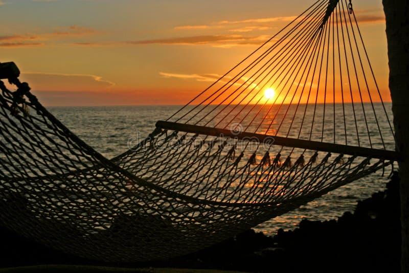 Entspannender Sonnenuntergang stockbilder