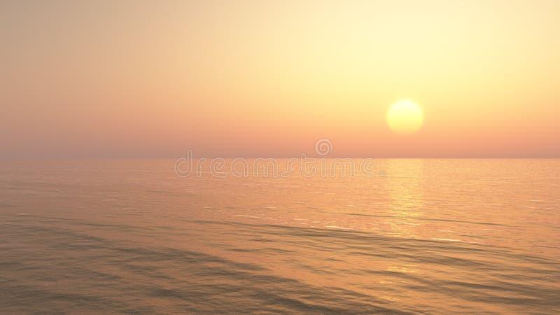 Entspannender Sonnenuntergang-Hintergrund stock abbildung