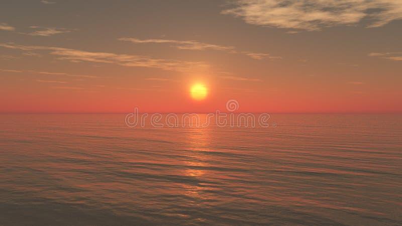 Entspannender Sonnenuntergang-Hintergrund vektor abbildung