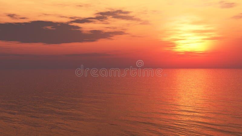 Entspannender Sonnenuntergang-Hintergrund lizenzfreie abbildung