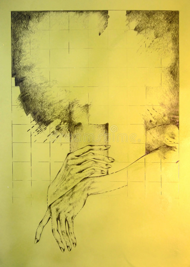 Entspannte Hände lizenzfreie abbildung