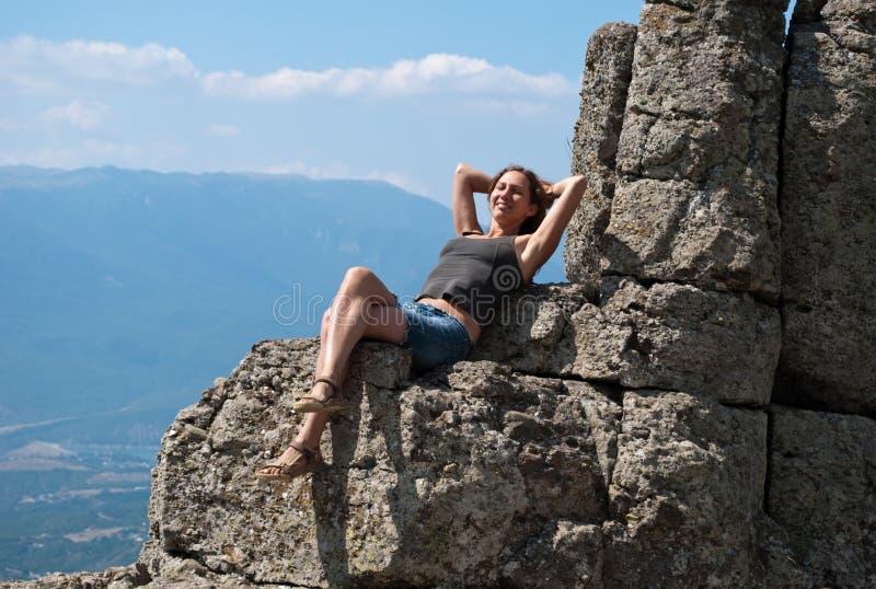Entspanntes Mädchen stockfotos