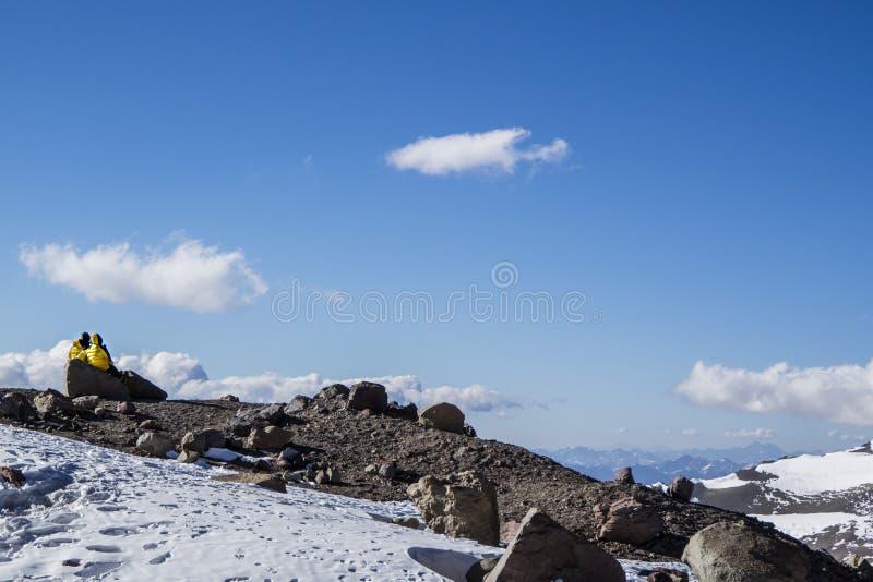 Entspannung am Berg lizenzfreie stockfotografie