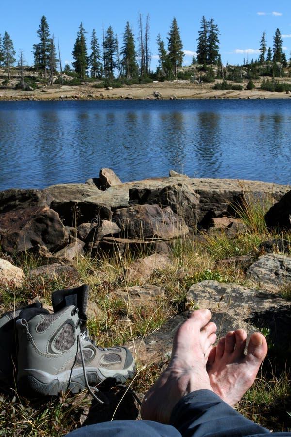 Entspannung in der Landschaft lizenzfreie stockfotos