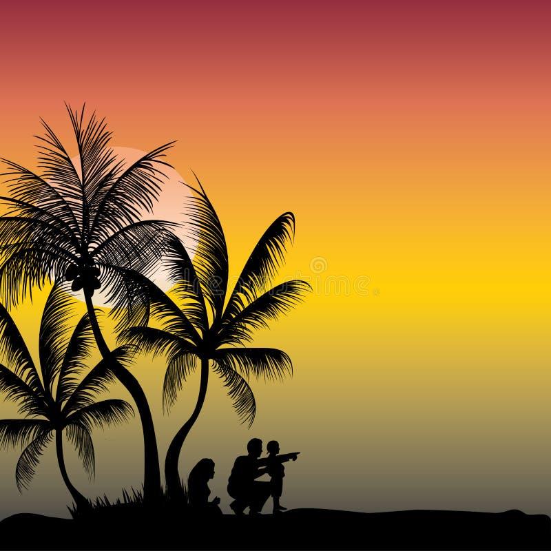 Entspannung Ende des Abends lizenzfreie abbildung