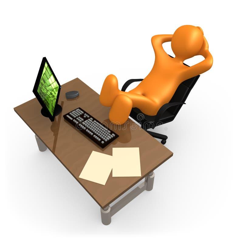 Entspannung im Büro vektor abbildung