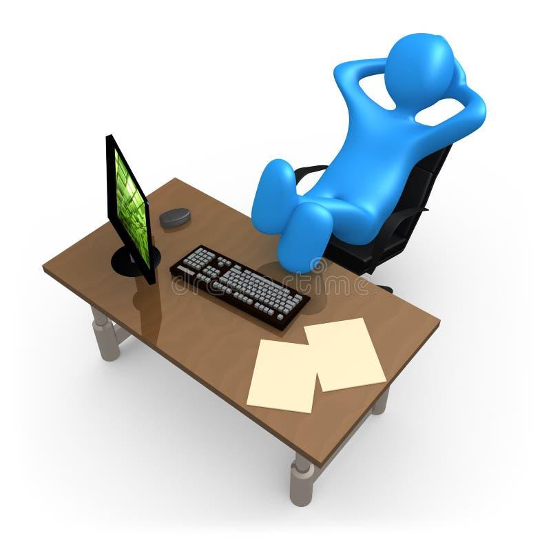 Entspannung im Büro lizenzfreie abbildung