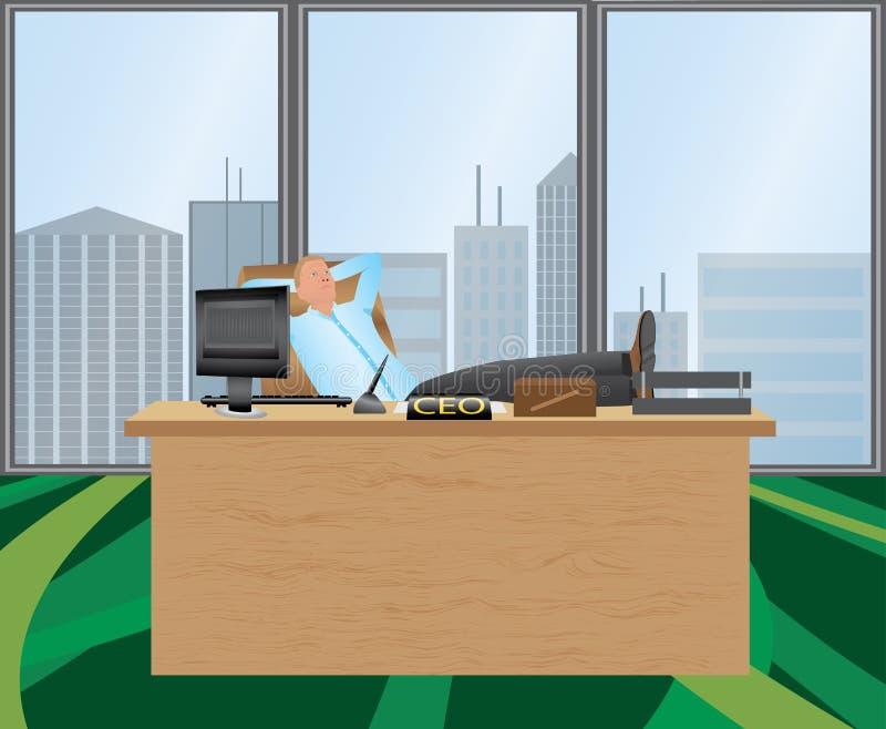 Entspannung im Büro stock abbildung