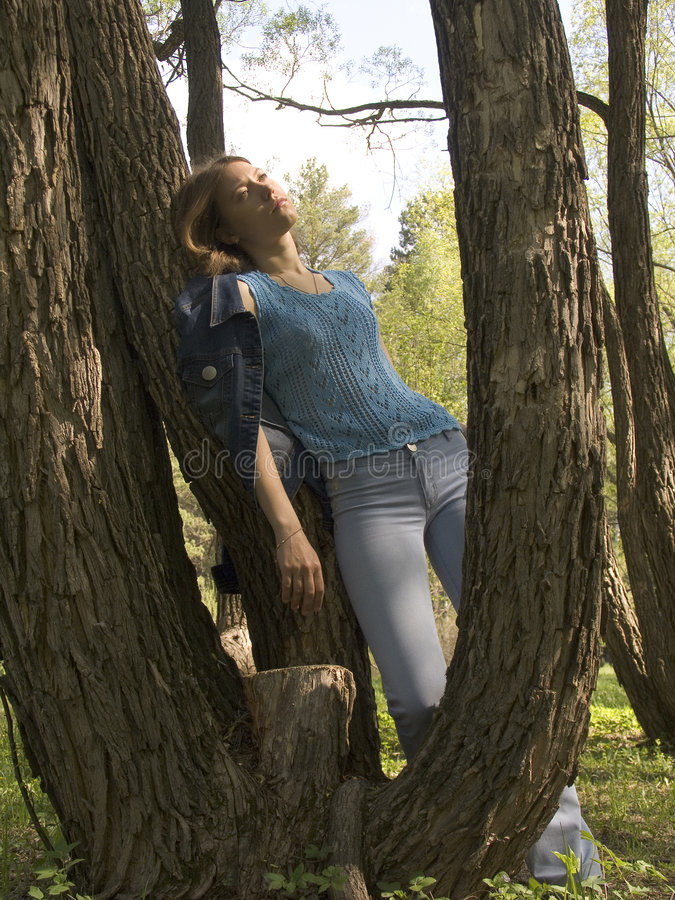 Entspannung im Park stockfoto