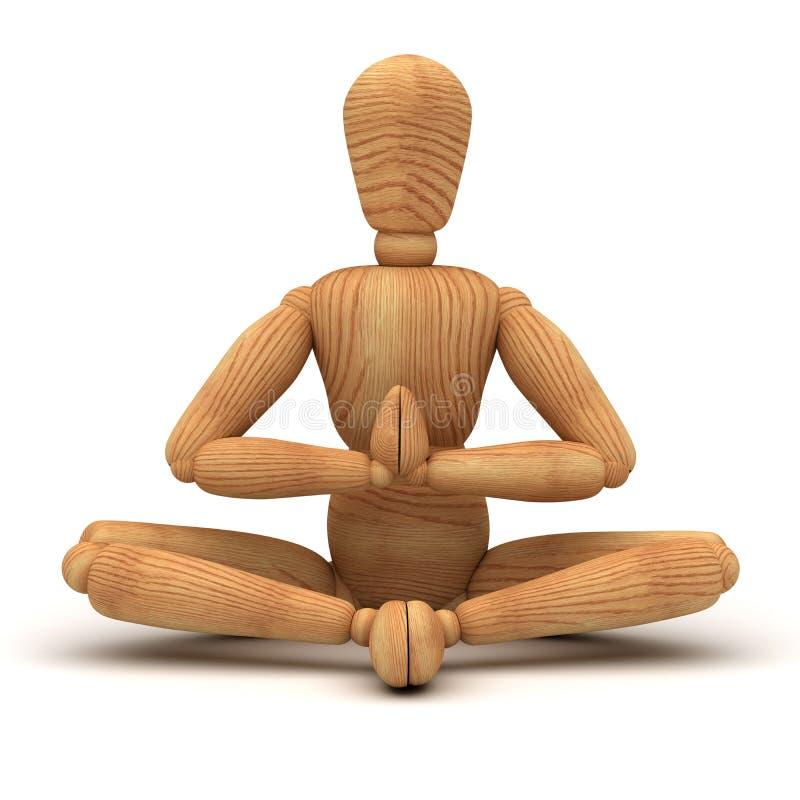 Entspannung mit Meditation stock abbildung