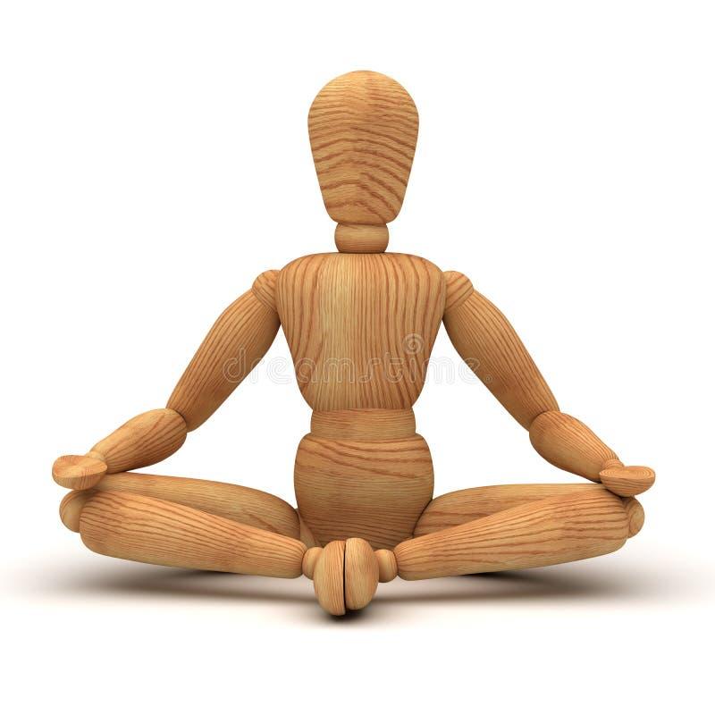 Entspannung mit Meditation vektor abbildung