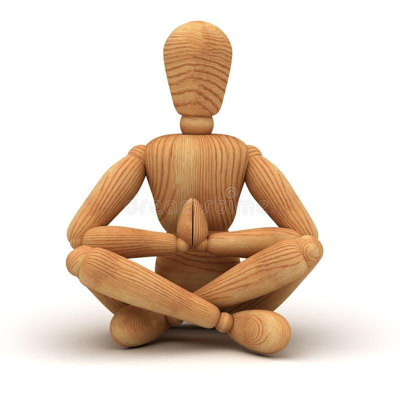 Entspannung mit Meditation lizenzfreie abbildung