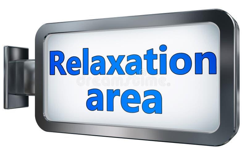 Entspannungsbereich auf Anschlagtafel lizenzfreie abbildung
