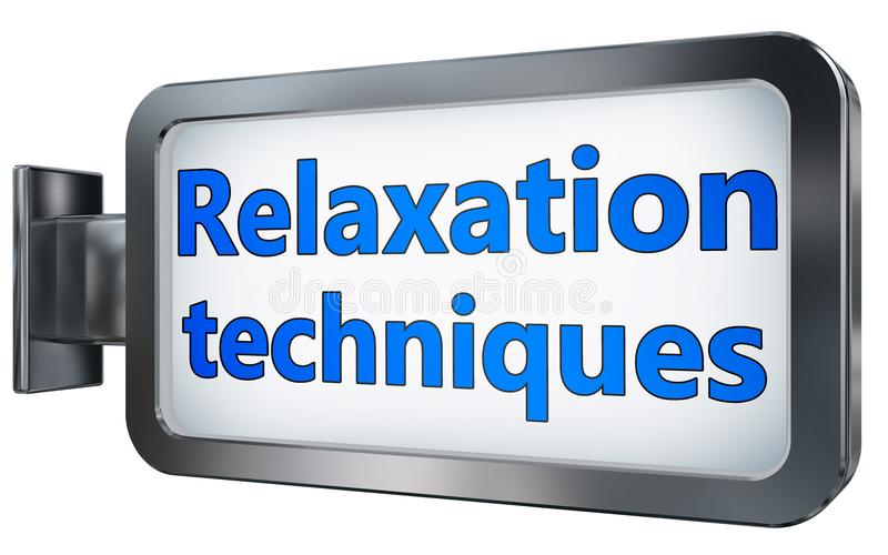 Entspannungstechniken auf Anschlagtafel vektor abbildung