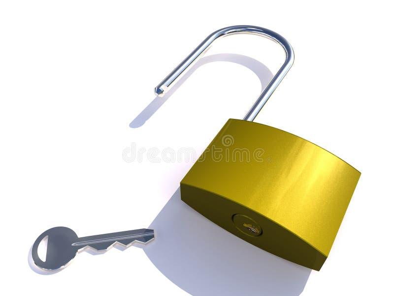 Entsperren Sie für Sicherheitsbereich stockbild