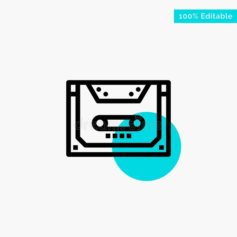 Entsprechung, Audio, Kassette, Vertrag, Plattformtürkishöhepunktkreispunkt Vektorikone lizenzfreie abbildung