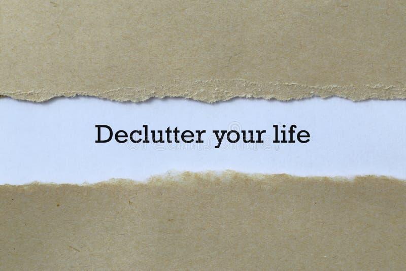 Enttäuschen Sie Ihr Leben auf Papier lizenzfreie stockbilder