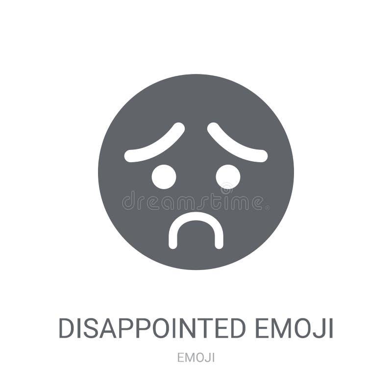 Enttäuschte emoji Ikone  stock abbildung