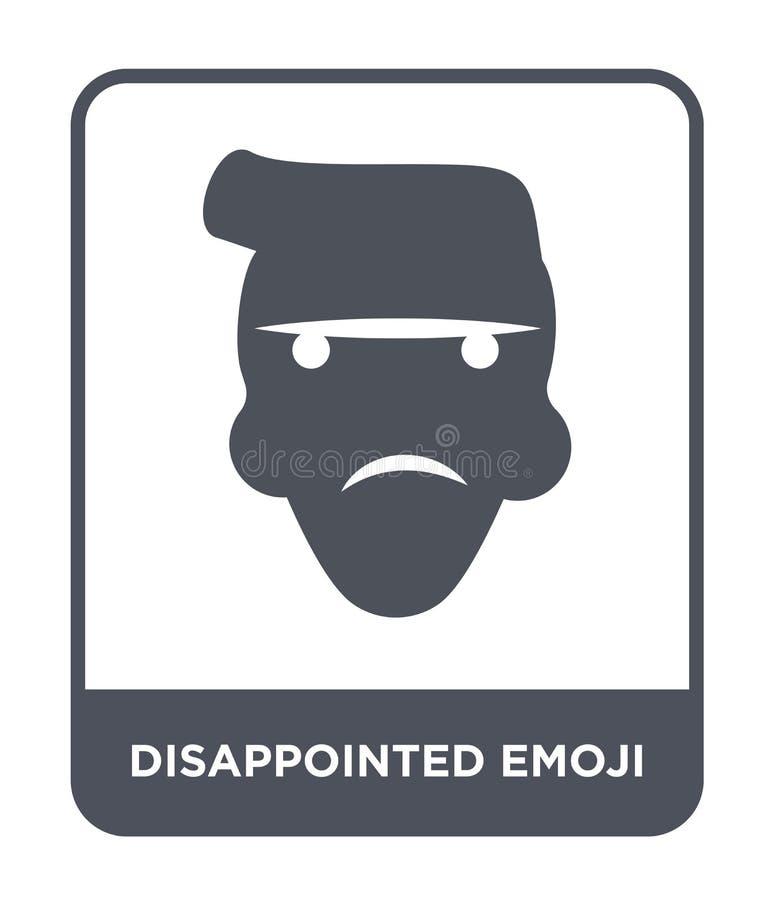 enttäuschte emoji Ikone in der modischen Entwurfsart enttäuschte emoji Ikone lokalisiert auf weißem Hintergrund enttäuschter emoj lizenzfreie abbildung