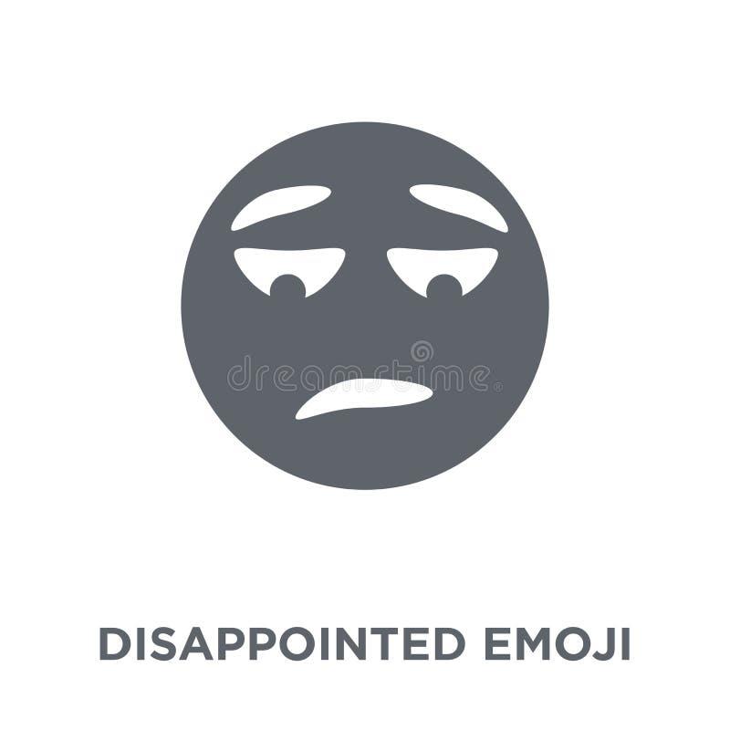 Enttäuschte emoji Ikone von Emoji-Sammlung stock abbildung