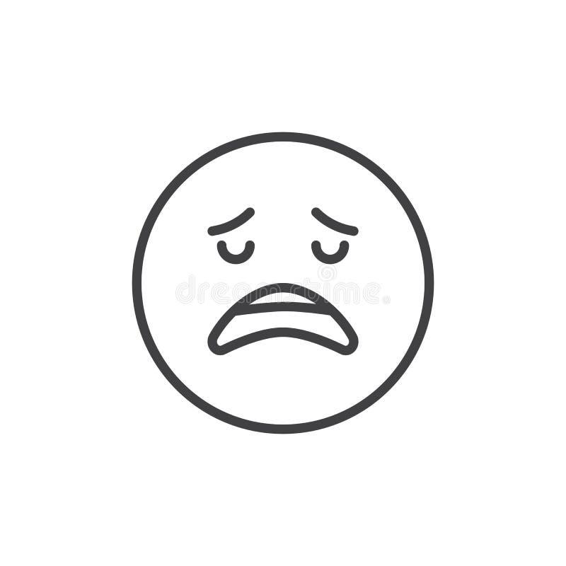 Enttäuschte Gesicht emoji Entwurfsikone vektor abbildung