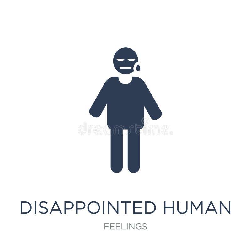 enttäuschte menschliche Ikone Modischer flacher Vektor enttäuschte menschliches i vektor abbildung