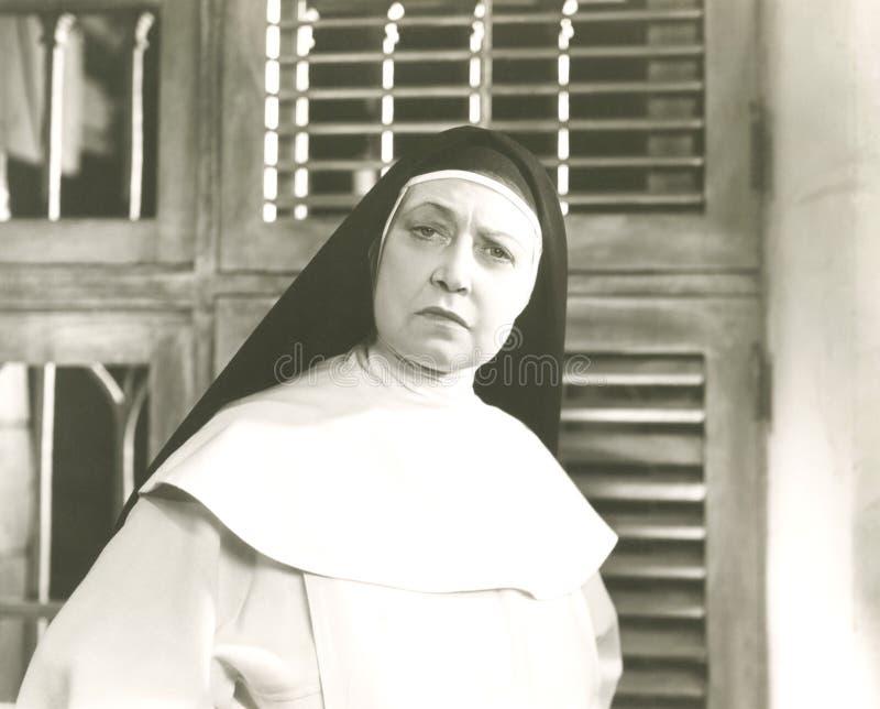 Enttäuschte Nonne lizenzfreie stockfotos