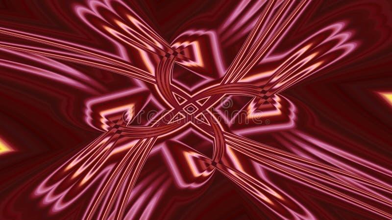 Entusiasm i en fractal royaltyfri illustrationer