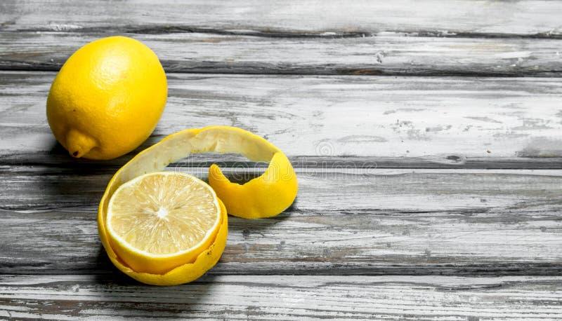 Entusiasmo de limão maduro fotografia de stock