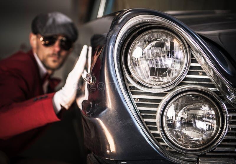 Entusiastas clásicos de los coches fotos de archivo libres de regalías