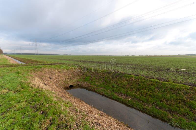 Entwässerungsgraben lizenzfreie stockfotografie