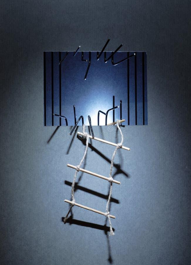 Entweichen Sie vom Gefängnis lizenzfreies stockbild