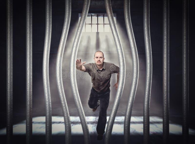 Entweichen vom Gefängnis lizenzfreies stockbild