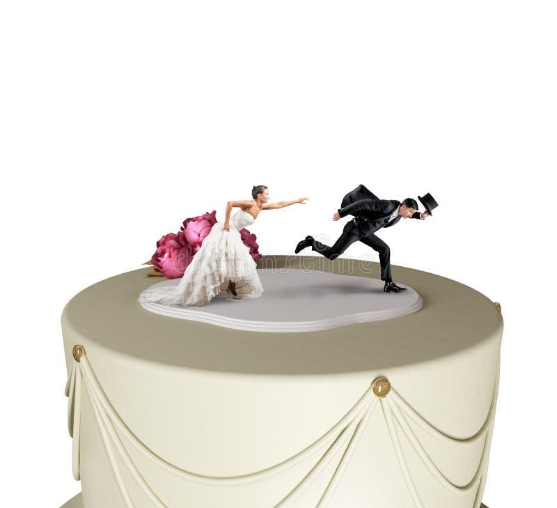 Entweichen von der Heirat stockbild