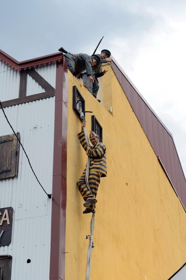 Entweichen von Strafgefangenen vom Gefängnis in Ushuaia lizenzfreies stockfoto