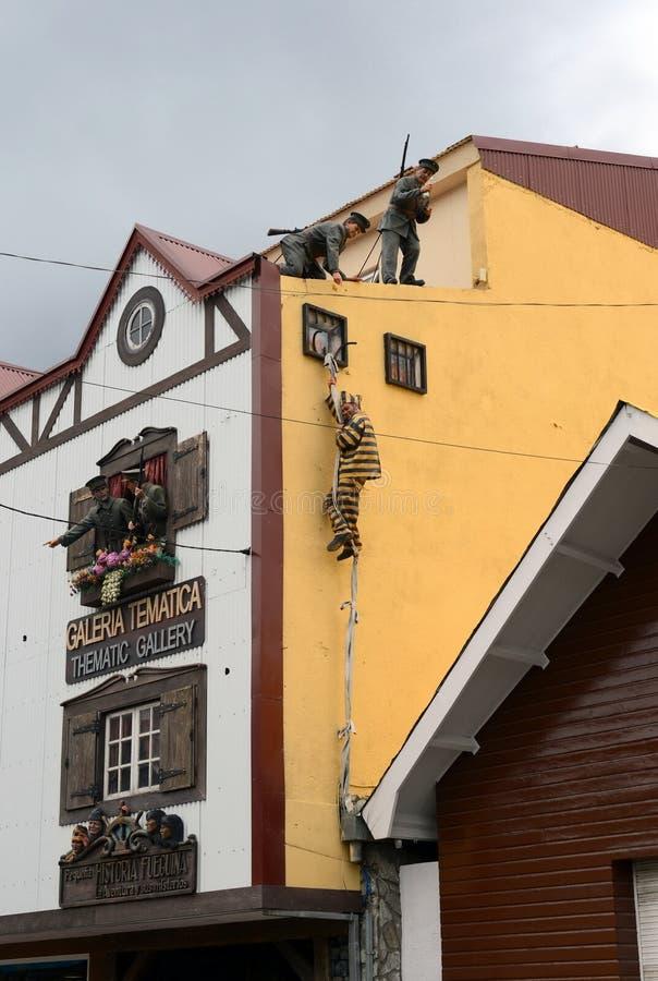 Entweichen von Strafgefangenen vom Gefängnis in Ushuaia stockbilder