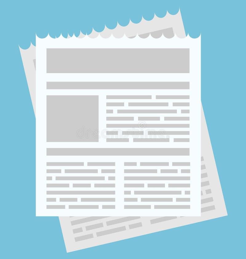 Entwerfen einfacher Ikonennewsletter des Seufzers für Netz und Anwendung stock abbildung