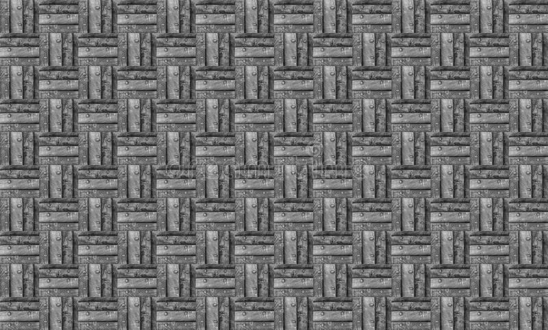 Entwerfen einfarbiges Holzverkleidungsbrett des Schmutzhintergrundes und Metallnietbasis steampunk lizenzfreie stockfotografie