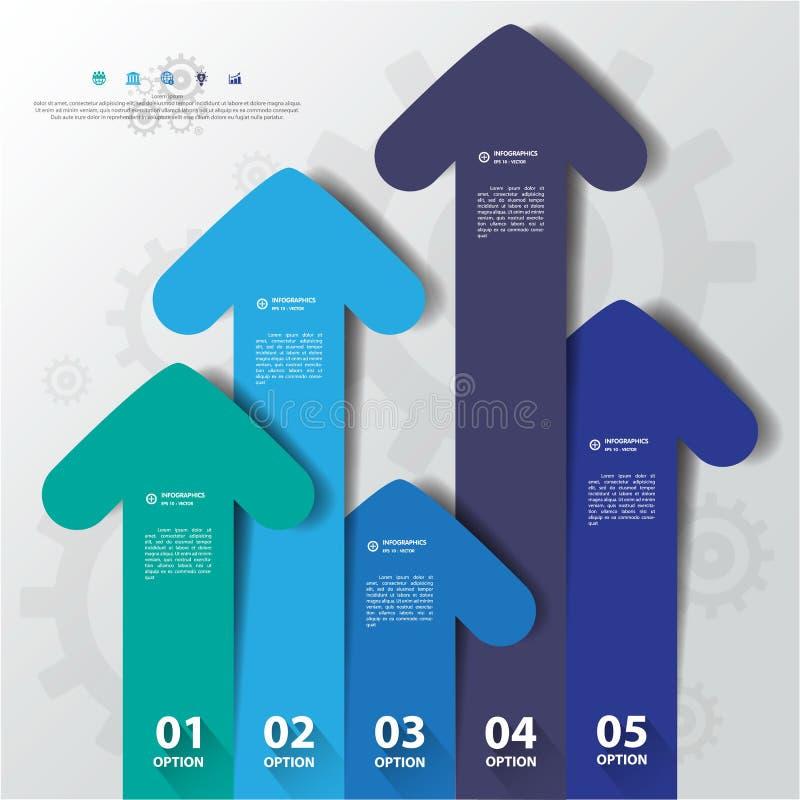 Entwerfen Sie flache Schattenpfeilfahnen /graphic oder Website Vector/EPS lizenzfreie abbildung