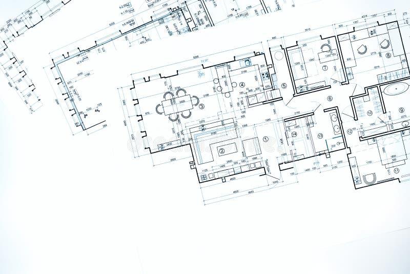 Download Entwerfen Sie Grundrisse, Technische Zeichnung, Bau Backgroun  Stockfoto   Bild Von Industrie,