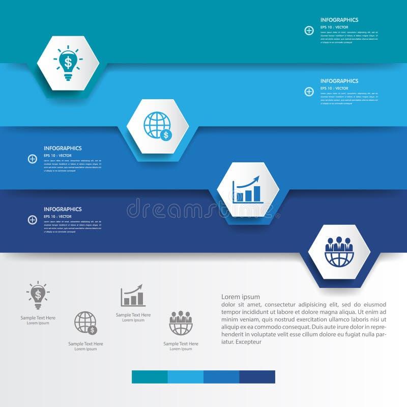 Entwerfen Sie Mehrfarbenzahlfahnenschablone/-graphik oder -website VE lizenzfreie abbildung
