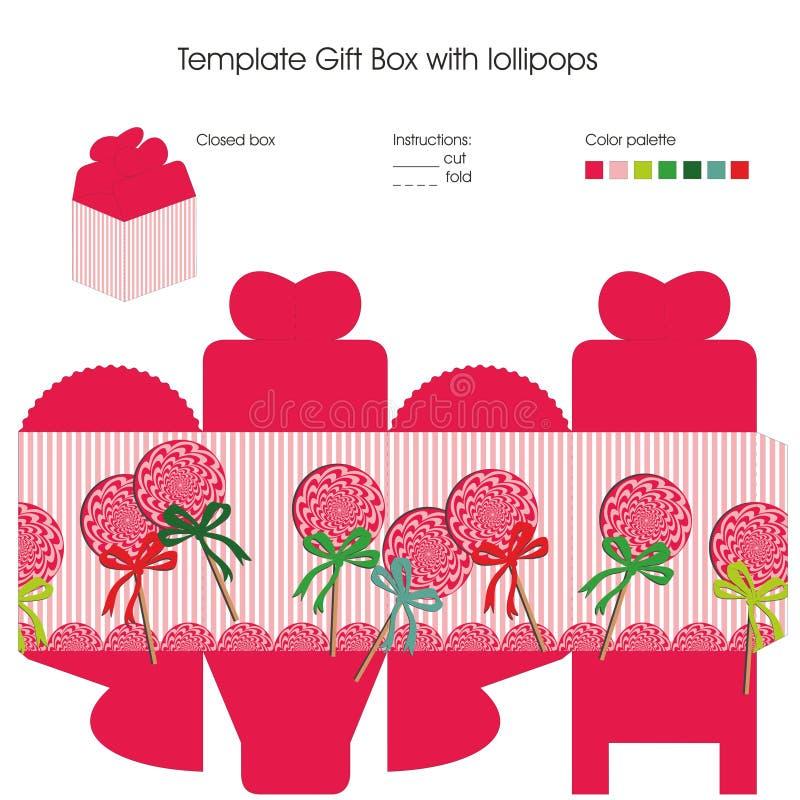 Schablone für Geschenkbox stock abbildung