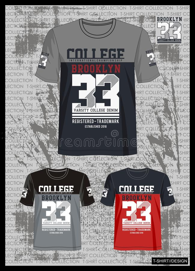 Entwerfen Sie Vektorschablonen-T-Shirt Sammlung für Männer 006 lizenzfreie abbildung