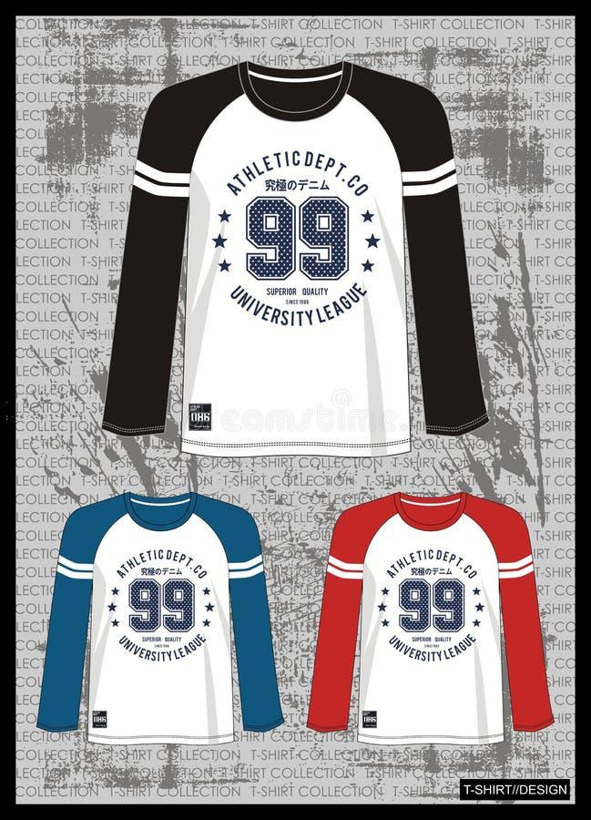 Entwerfen Sie Vektorschablonen-T-Shirt Sammlung für Männer 010 lizenzfreie abbildung