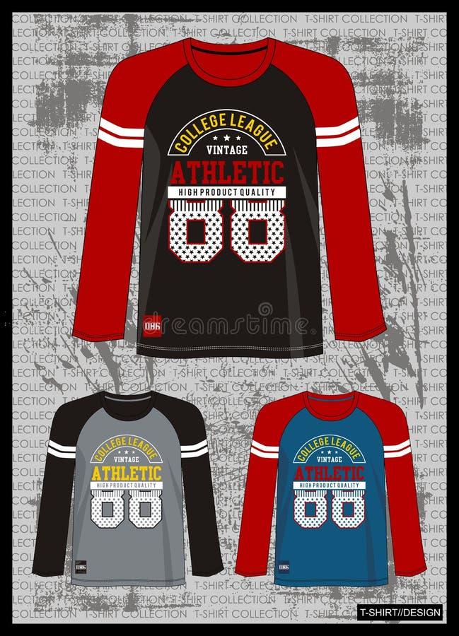 Entwerfen Sie Vektorschablonen-T-Shirt Sammlung für Männer 011 stock abbildung