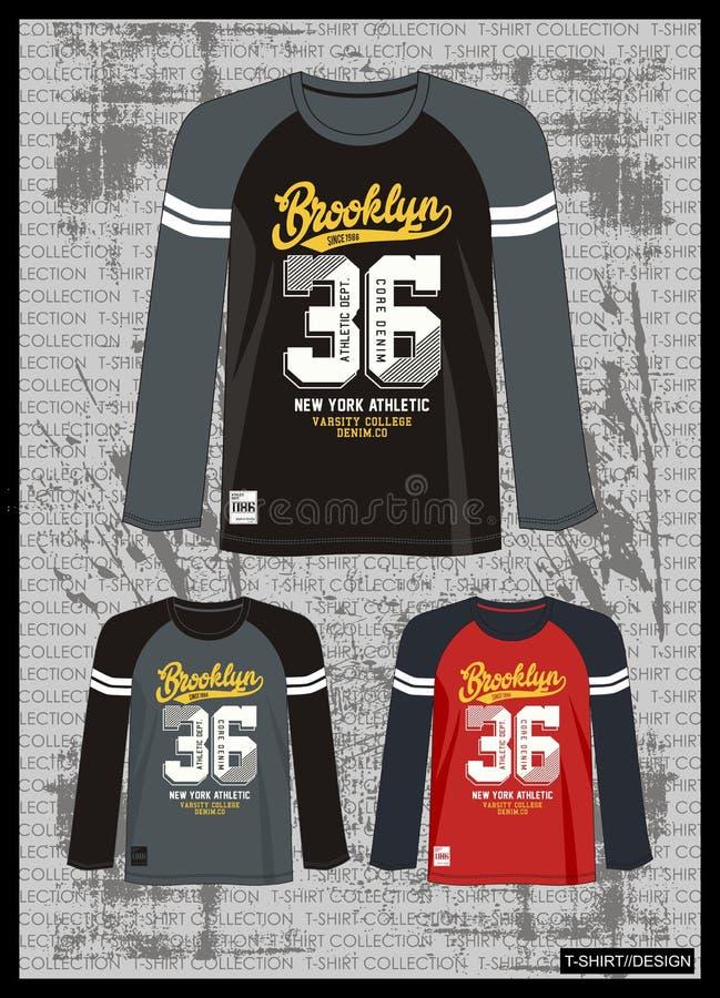 Entwerfen Sie Vektorschablonen-T-Shirt Sammlung für Männer 013 stock abbildung