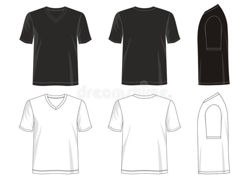 Entwerfen Sie Vektort-shirt Schablonensammlung für Männer 028 lizenzfreie abbildung