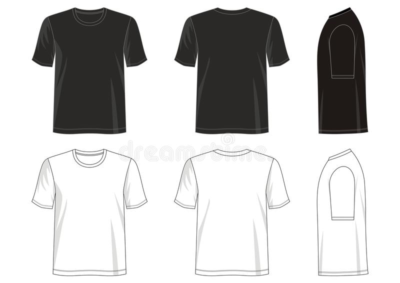 Entwerfen Sie Vektort-shirt Schablonensammlung für Männer 029 stock abbildung