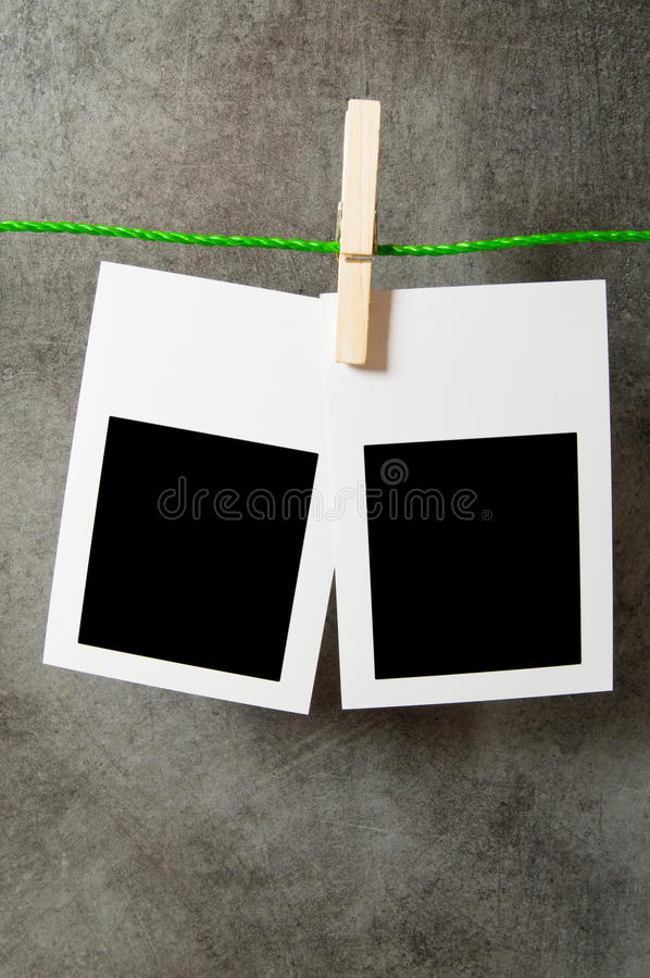 Entwerferkonzept - unbelegte Fotofelder lizenzfreie stockfotografie