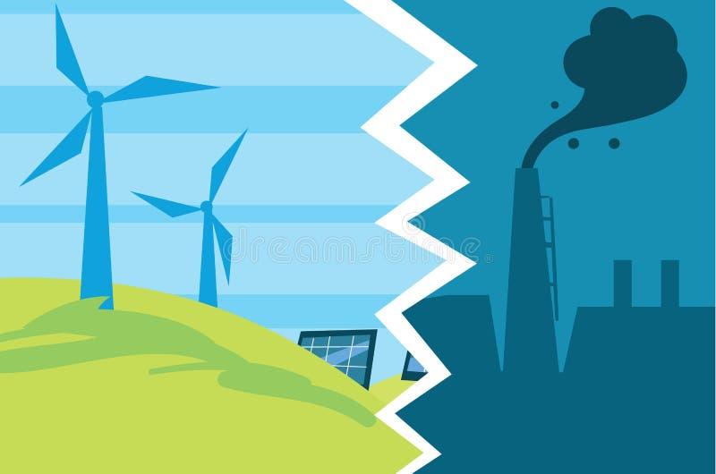 Entwicklung von Industrieabgase zu eco Energie vektor abbildung